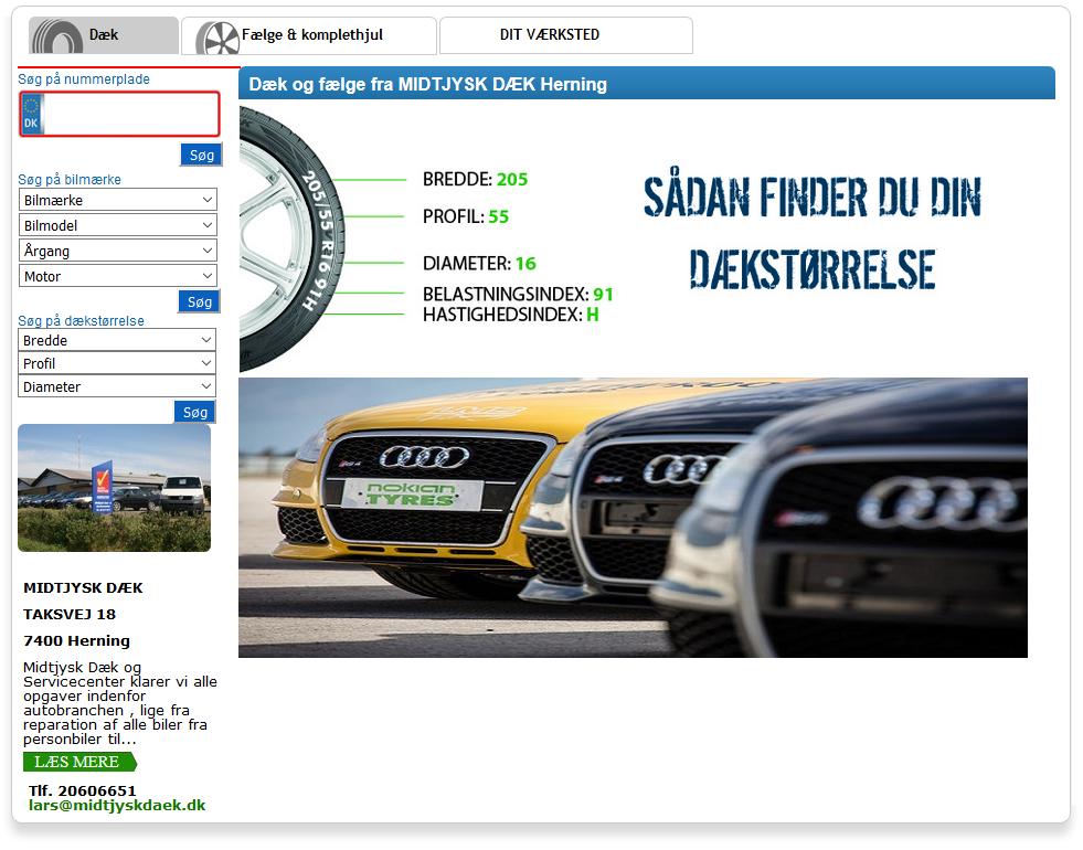 Køb nye dæk hos midtjysk dæk- & servicecenter