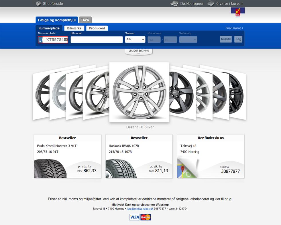 Køb nye dæk & fælge hos midtjysk dæk- & servicecenter